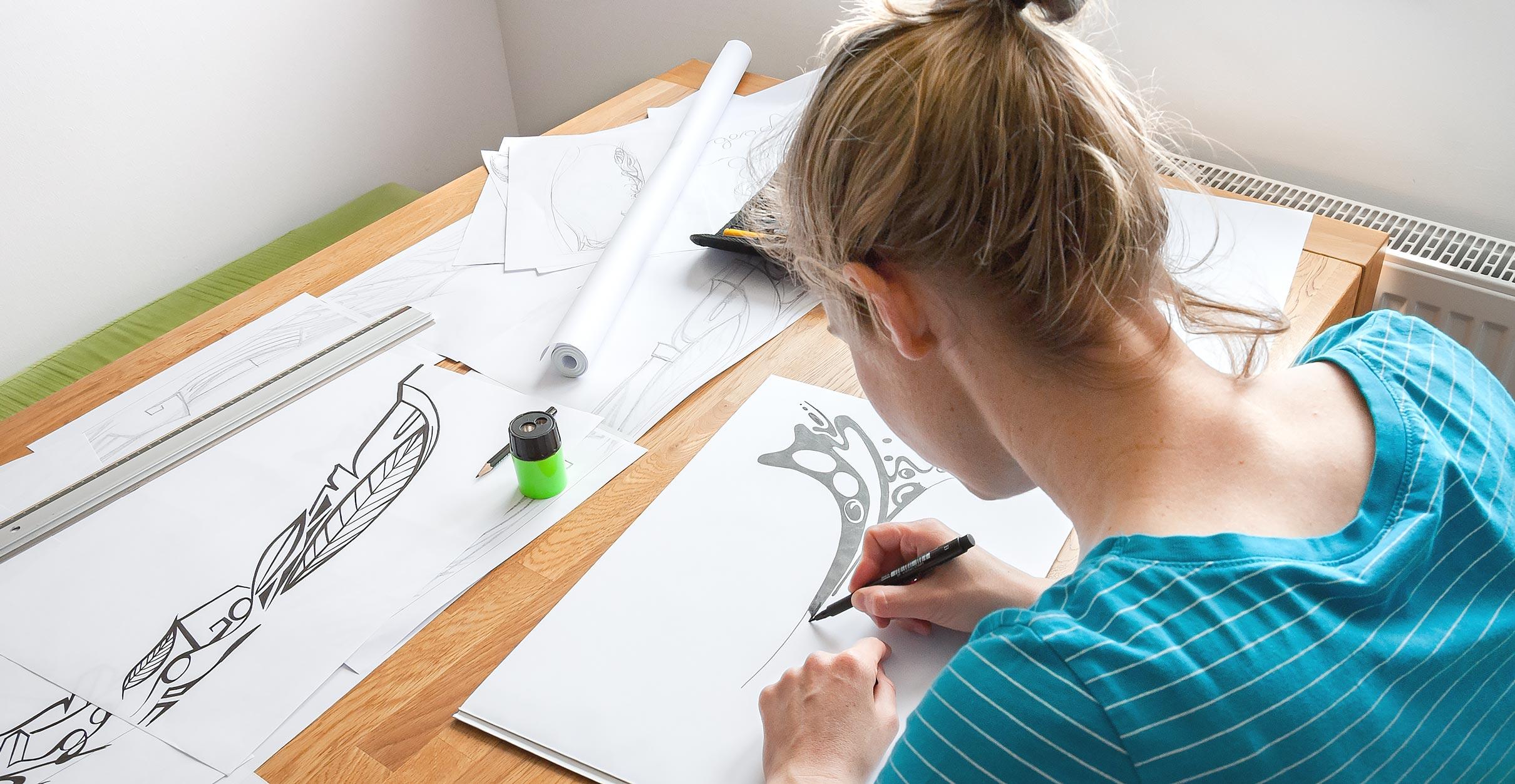 Anke-zeichnet-Retina